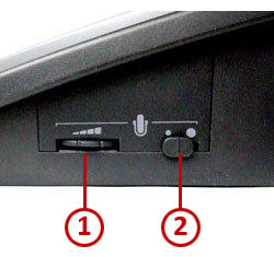 Image of the S12's speaking volume adjustment switches