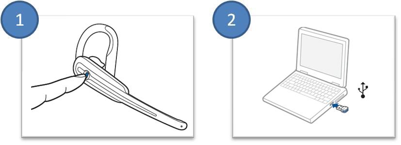 Illustration of the Calisto B70 pairing process