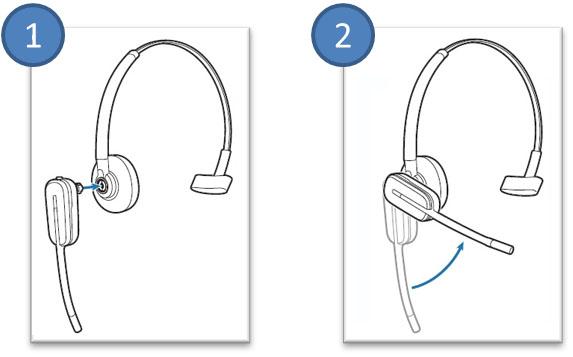 Image of how to install the CS540 headband