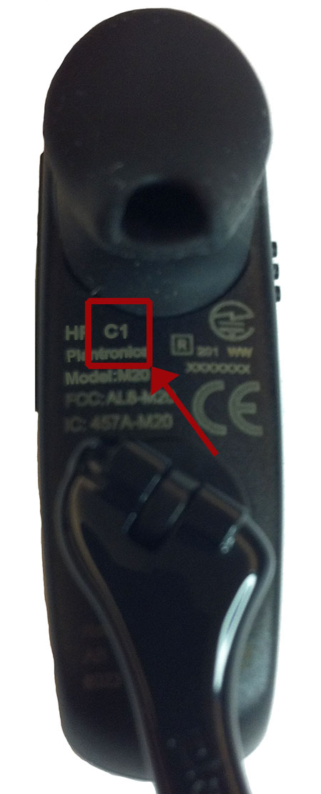 Image of the M20 Date Code Location