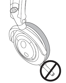 Location of the Date Code on the Pulsar headset
