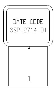 Image of the SSP 2714-01 (modified BT300) date code loccation